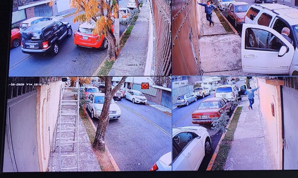 Instalación de cámaras de seguridad en la colonia Cipreses en Toluca